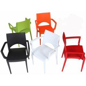Kunststof kantine stoel met armleggers(ks1002)