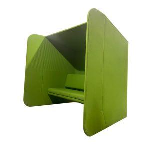 Buzzispace BuzziHub groen met zijkanten (bank0646)