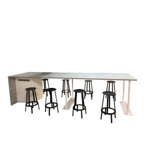 Hoge grijze tafel (sta025)