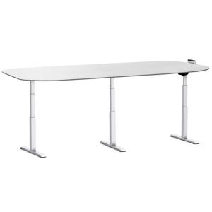 Welltrade elektrisch verstelbare zit/sta vergadertafel (bunev01)