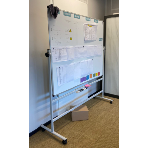 Welltrade verijdbare whiteboard (whiteb10)